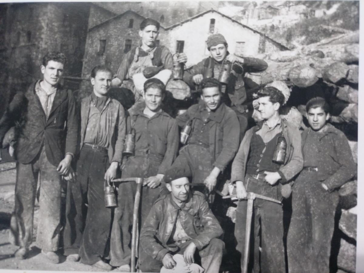 Miners de les mines de Fígols, Cercs.